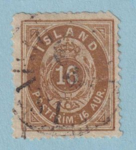 ICELAND 12  USED -  PERF FAULT - VERY FINE!