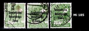 Germany Allied Occupation SBZ 186 abc