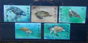 Kenya 2000 Turtles set Used