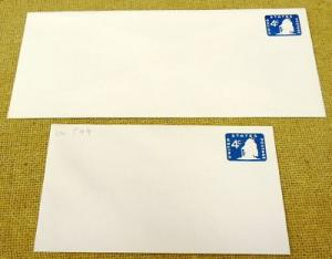 U549, 4c U.S. Postage Envelope lot of 2