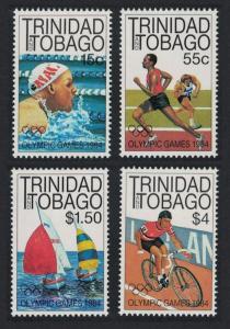 Trinidad and Tobago Sailing Swimming Cycling Olympic Games Los Angeles 4v