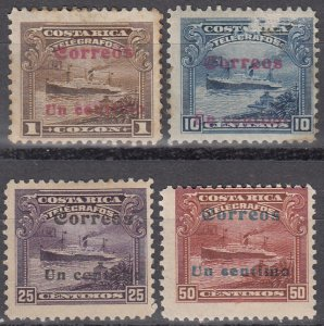 Costa Rica, Sc 86-89, MNH/MH, 1911, Telegraph Stamps