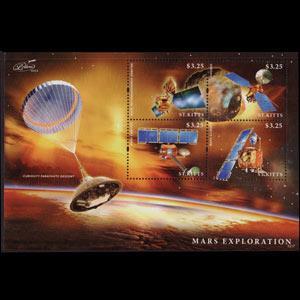 ST.KITTS 2013 - Scott# 870 S/S Mars Voyage NH