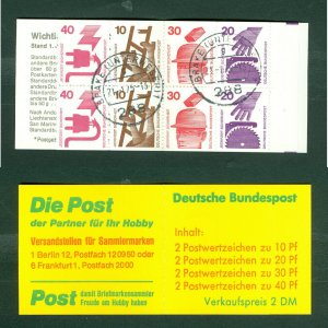 Germany. 1974. Booklet Safety. Cancel 21.1.1975.