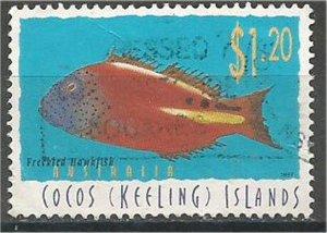 COCOS ISLANDS , 1995 used $1.20 Fish. Scott 314