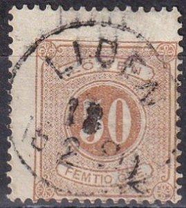 Sweden #J10  Used  CV $60.00  (Z6331)
