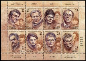 HERRICKSTAMP NEW ISSUES SERBIA Actors 2019 Sheetlet