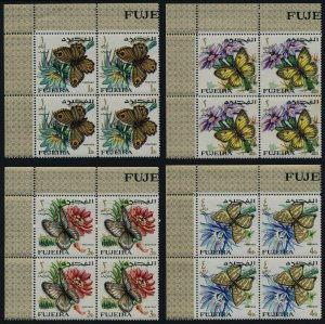 Fujeira MI 159-67 TL Blocks MNH Butterflies, Flowers
