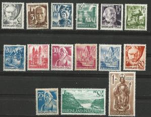 Germany-Rheinland  # 6N1-15 Definitives     (15)  Unused