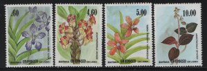SRI LANKA, 722-725, (4) SET,  HINGED, 1984 Flowers