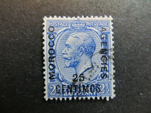 A4P9F6 Great Britain Offices in Morocco 1914-18 25c on 2 1/2p used