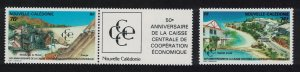 New Caledonia 50th Anniversary of Central Economic Co-operation Bank 2v T1