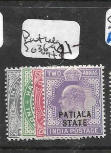 INDIA PATIALA (P2701B) KE  SG 36-9  MOG