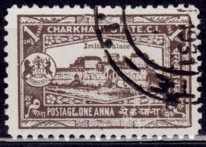 India Charkhari, 1931, Imlia Palace, 1a, sc#29, used