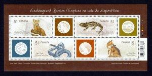 Canada 2006, Endangered Species MNH S/sheet # 2173