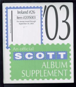 2003 Ireland #26 Scott Stamp Collection Album Supplement Pages Item #201S003