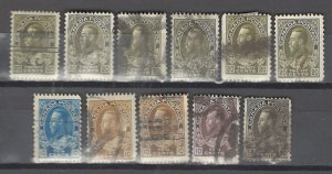 COLLECTION LOT # 2920 CANADA 11 STAMPS CLEARANCE 1912+ CV+$24