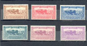 EGYPT-1926 Agricultural and Industrial Exhibition - Gezira, SC# 108 - 113 MNH