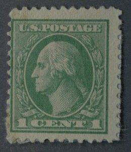 United States #525 1 Cent Washington Emerald Unused on Album Paper