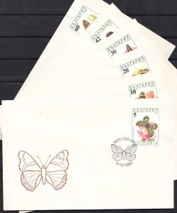 Bulgaria, Scott cat. 3551-3556. Butterflies issue. 6 First day covers. ^