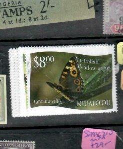 TONGA NIUAFOO (PP2612B) SET OF 12 BUTTERFLIES  MNH