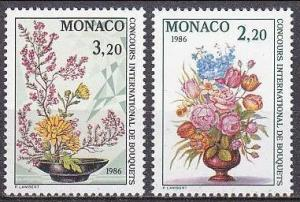 1985 Monaco 1718-19 Flowers 3,60 €