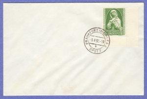GER SC #B324 1952 S-P/Nuremberg Madonna FDC 08-09-1952