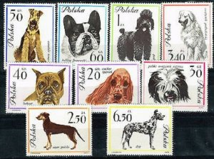 1963  POLAND  -  SG:1361/69  -  DOGS - UNMOUNTED MINT