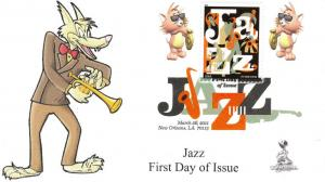 Jazz First Day Cover, with DCP postmark