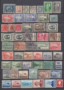 J29751, older iceland mh/used lot all different