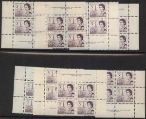 Canada - 1967 3c Centennial Plate Blocks mint #456