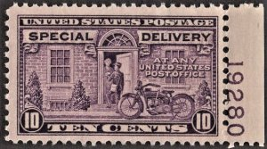 US E15 MNH VF 10 Cent Motorcycle Delivery P# Single
