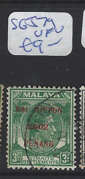 MALAYA JAPANESE OCCUPATION PENANG (P0108B)  KGVI   3C DN  SG J79   VFU