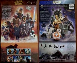 HERRICKSTAMP GREAT BRITAIN Sc.# 3656-63 Star Wars 2017 Presentation Pack
