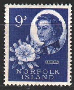 Norfolk. 1960. 31 from the series. Queen Elizabeth. MNH.