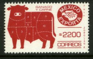 MEXICO Exporta 1763 $2200P Cattle Meat Fluor Paper 13 MNH