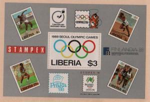 Liberia #1081 MNH Seoul Olympics Souvenir Sheet