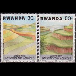 RWANDA 1983 - Scott# 1146-9 Soil Erosion 30-70f LH