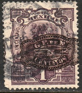 MEXICO 577 5cents ON 1cent BARRIL SURCHARGE USED. F-VF.  (245)