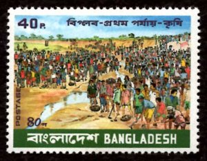 Bangladesh 40p Mass Participation in Canal Digging 1980 Scott.181 MNH