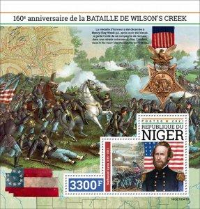 NIGER - 2021 - Battle of Wilson's Creek - Perf Souv Sheet - Mint Never H...