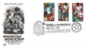 US 2834-2836 Soccer Artcraft East Rutherford,NJ U/A FDC