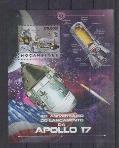 Mozambique MNH S/S Space Spaceships Apollo 17 2012