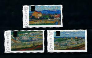 [100061] Grenada 2009 Art Painting Vincent van Gogh Crau with Peach Trees  MNH