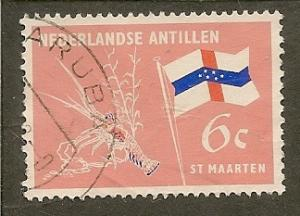 Netherlands Antilles     Scott  300   Flag, Lobster    Used