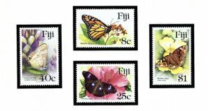 Fiji 523-26 MNH 1985 Butterflies