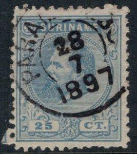 Surinam #11  CV $25.00  Nice cancellation