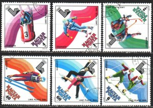 Hungary. 1979. 3390-95. Lake Placid, Winter Olympics. USED.