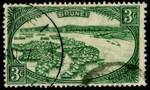 BRUNEI SG81, 3c green, USED.