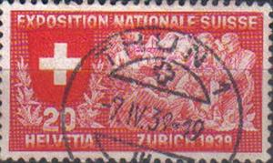 SWITZERLAND, 1939, used 20c. National Exhibition, Zurich.